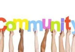 Multi Ethnic People Holding The Word Community
